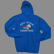 2013 State Champs - Hanes F170 - Adult 10 oz. Ultimate Cotton Pullover Hooded Sweatshirt