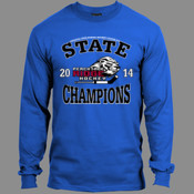 2014 State Champs - 5186 Hanes Adult 6.1oz Long-Sleeve Beefy-T