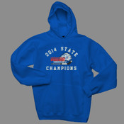 2014 State Champs - Hanes F170 - Adult 10 oz. Ultimate Cotton Pullover Hooded Sweatshirt