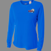 Logo - NW3002 A4 Ladies' Long Sleeve Cooling Performance Crew Shirt