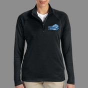 Logo - DG440W Devon & Jones Ladies' Stretch Tech-Shell® Compass Quarter-Zip