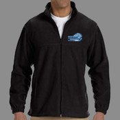 Logo - M990 Harriton Men's 8oz. Full-Zip Fleece